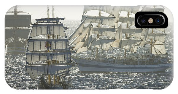 3 X Tall Ships Phone Case by Gilles Martin-Raget