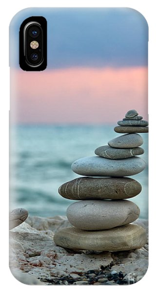 White Background iPhone Case - Zen by Stelios Kleanthous
