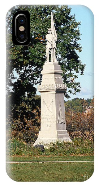 30u13 Hood Park Monument To Civil War Soldiers And Sailors Photo IPhone Case