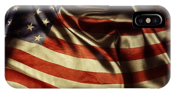 American Flag iPhone Case - American Flag 51 by Les Cunliffe