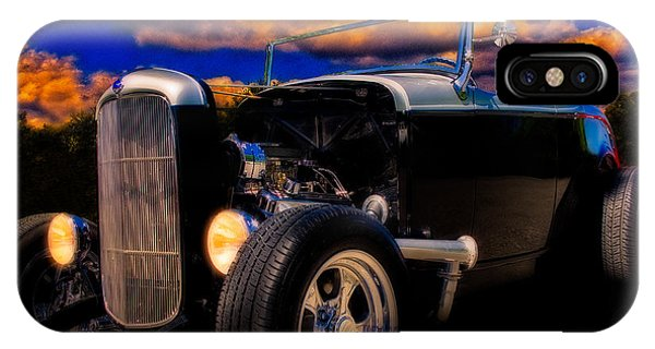 32 Ford Roadster In Silver An Black IPhone Case