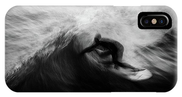 Action iPhone X Case - Untitled by Massimo Della Latta