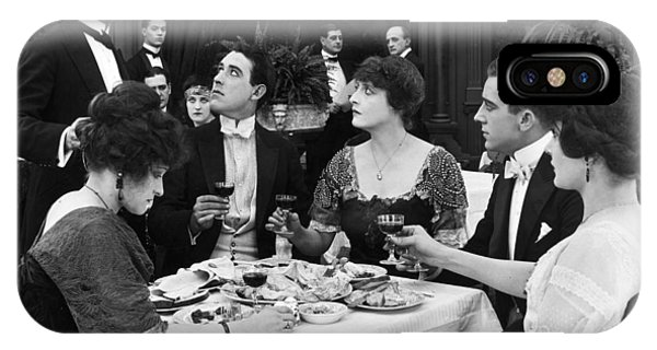Silent Film Still: Drinking IPhone Case