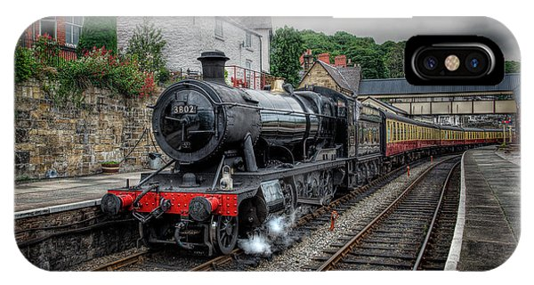 Sleeper iPhone Case - 3802 At Llangollen Station by Adrian Evans