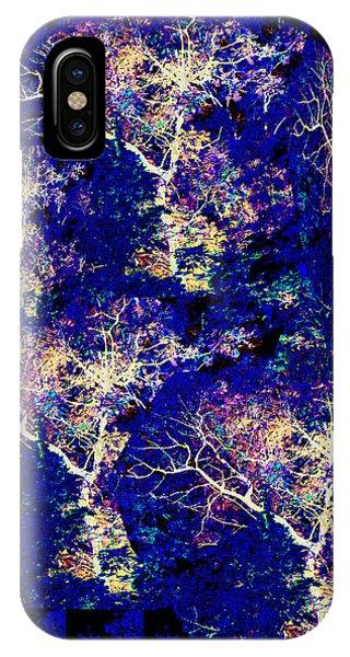 3d Amazing Mystery Tree Lightening Thunderbolt Graphic On Dark Blue Magical Base       IPhone Case