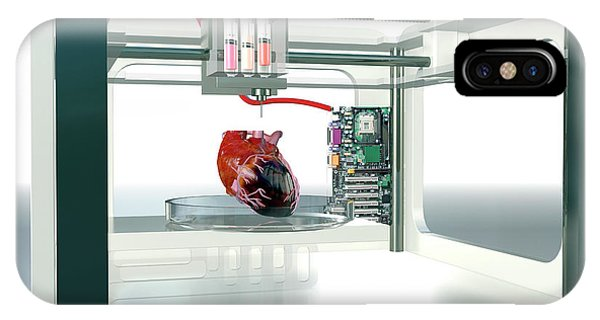 3d Printed Heart Phone Case by Christian Darkin