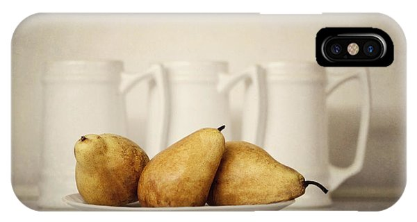 Pears iPhone Case - 3x3 by Diana Kraleva