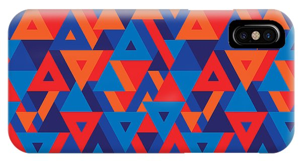 Futuristic iPhone Case - Abstract Geometric Background - by Sergey Korkin