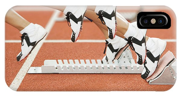 Athlete Leaving The Blocks Phone Case by Gustoimages/science Photo Library
