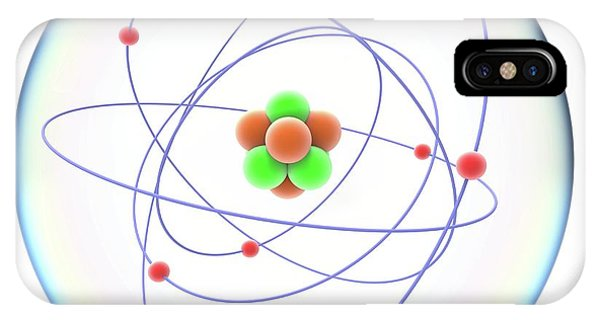 Atomic iPhone Case - Atomic Structure by Alfred Pasieka
