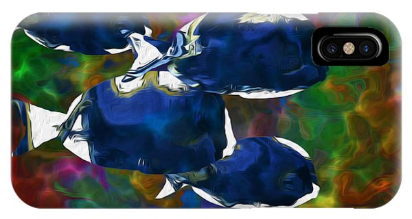 Visual Illusion iPhone Case - Beneath The Waves Series by Jack Zulli