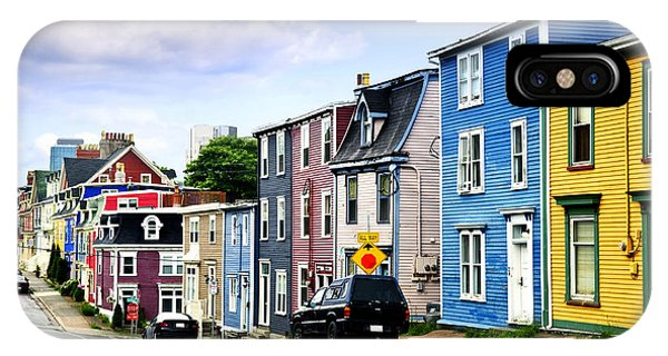 Town iPhone Case - Colorful Houses In St. John's by Elena Elisseeva
