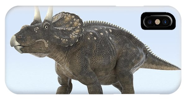Diceratops iPhone Case - Dinosaur Diceratops by Science Picture Co
