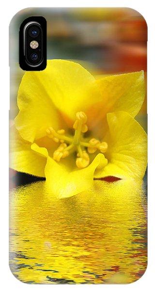 Floral Fractals And Floods Digital Art IPhone Case