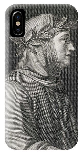 Francesco Petrarch  Italian Poet Phone Case by Mary Evans Picture Library