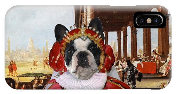 French Bulldog Art Canvas Print IPhone Case