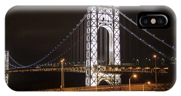 George Washington Bridge On President's Day IPhone Case