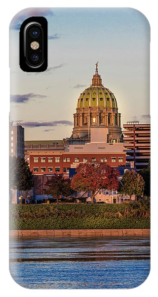 Capitol Building iPhone Case - Harrisburg, Pennsylvania, City Skyline by Panoramic Images
