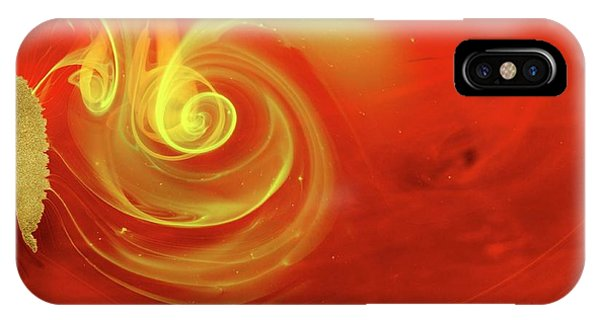 Flow Visualization iPhone Case - Ink Patterns In Water by Pery Burge/science Photo Library