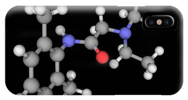 Lidocaine Drug Molecule Phone Case by Laguna Design/science Photo Library