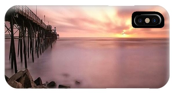 Long Exposure Sunset At The Oceanside Phone Case by Larry Marshall