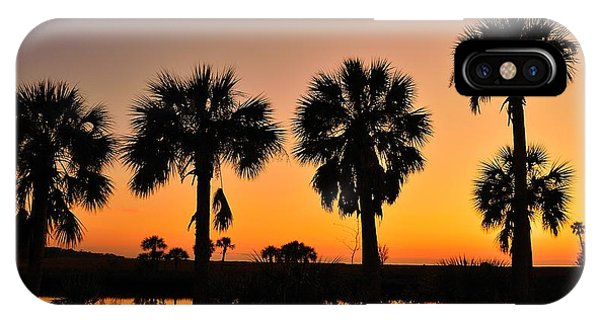 4 Palms In After Glow IPhone Case