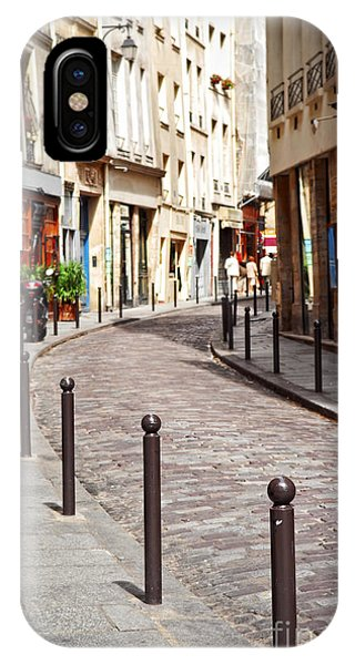 Travel iPhone Case - Paris Street by Elena Elisseeva