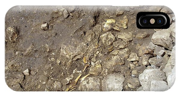 Partially Excavated Human Fossil IPhone Case