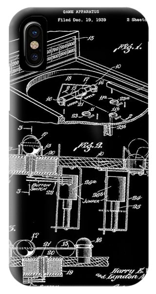 Elton John iPhone Case - Pinball Machine Patent 1939 - Black by Stephen Younts