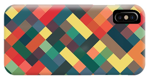 Background iPhone Case - Pixel Art by Mike Taylor