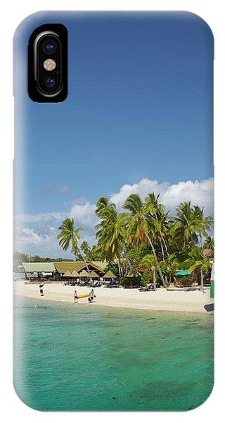 Catamaran iPhone Case - Plantation Island Resort, Malolo Lailai by David Wall