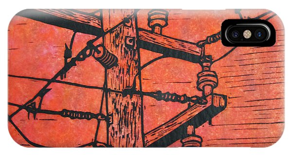 Power Lines Phone Case by William Cauthern