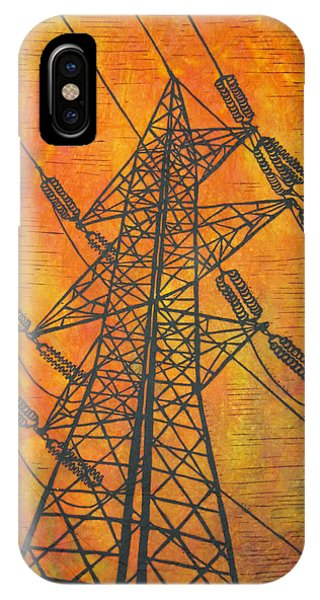 Power Phone Case by William Cauthern