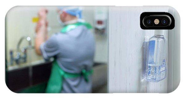 Dispenser iPhone Case - Preparing For Surgery by Jim Varney/science Photo Library