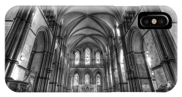 Rochester Cathedral Interior Hdr. IPhone Case