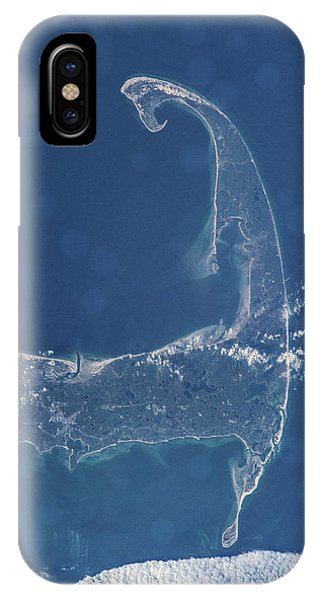 International Space Station iPhone Case - Satellite View Of Cape Cod National by Panoramic Images
