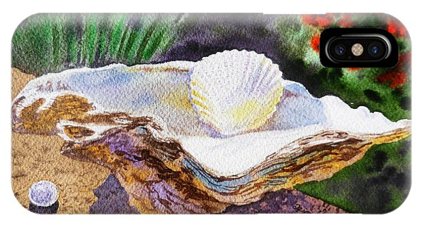 Sea Shell And Pearls Morning Light IPhone Case