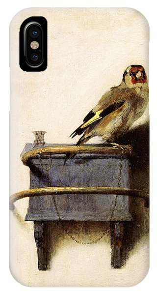 IPhone Case featuring the painting The Goldfinch by Carel Fabritius