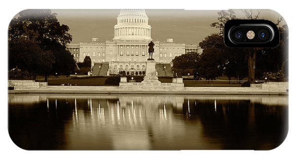 Usa, Washington Dc, Capitol Building Phone Case by Walter Bibikow