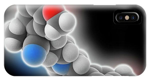 Er iPhone Case - Verapamil Drug Molecule by Laguna Design