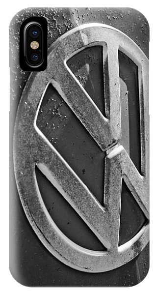 Volkswagen iPhone Case - Volkswagen Vw Bus Front Emblem by Jill Reger