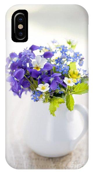 Wild Violet iPhone Case - Wildflower Bouquet by Elena Elisseeva