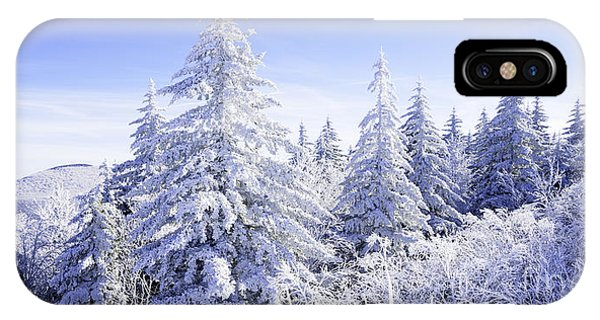Winter Along The Highland Scenic Highway IPhone Case