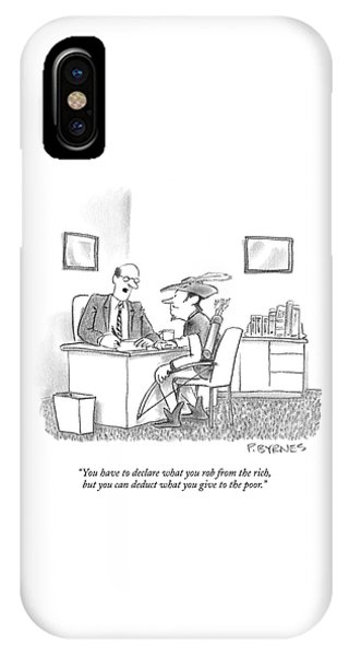 You Have To Declare What You Rob From The Rich IPhone Case