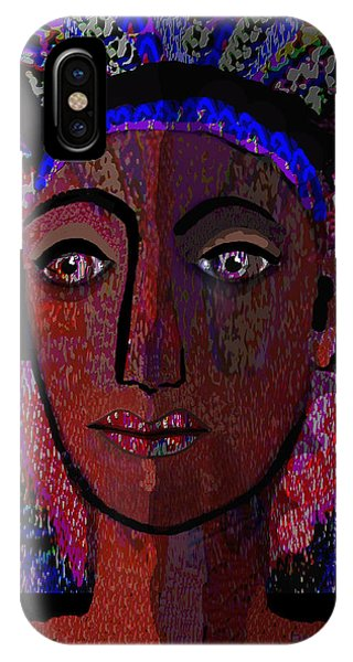 447 - Dark Lady Phone Case by Irmgard Schoendorf Welch