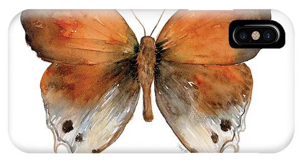 Moth iPhone Case - 47 Mantoides Gama Butterfly by Amy Kirkpatrick