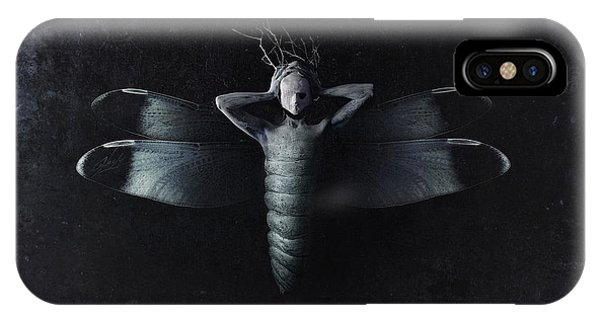 Texture iPhone Case - The Moth by Victor Slepushkin