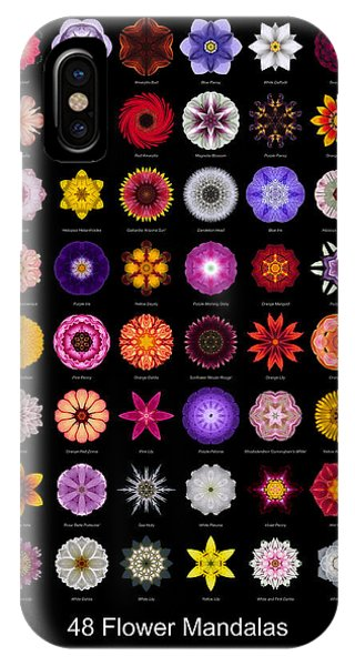 48 Flower Mandalas IPhone Case