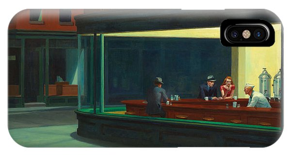 IPhone Case featuring the painting Nighthawks by Edward Hopper