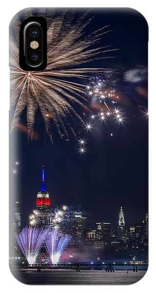 Empire State Building iPhone Case - 4th Of July Fireworks by Eduard Moldoveanu